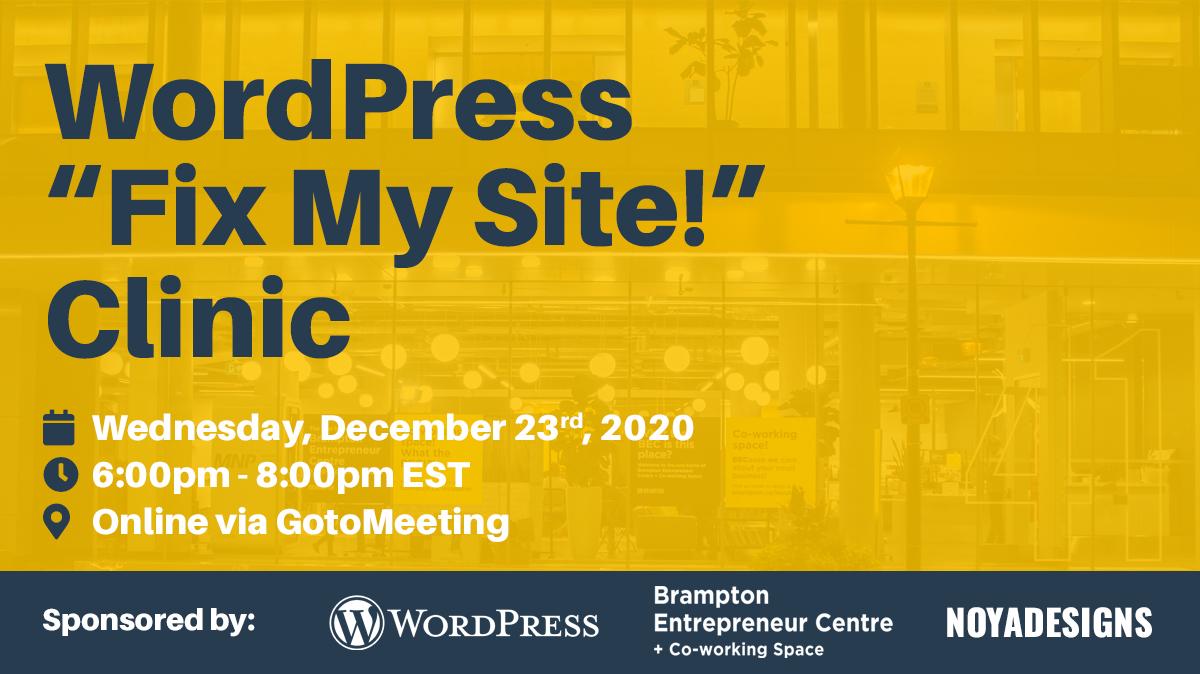 December WordPress Meetup - Brampton, Ontario